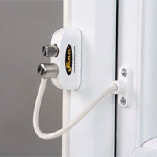 Jackloc push and turn childproof window restrictor
